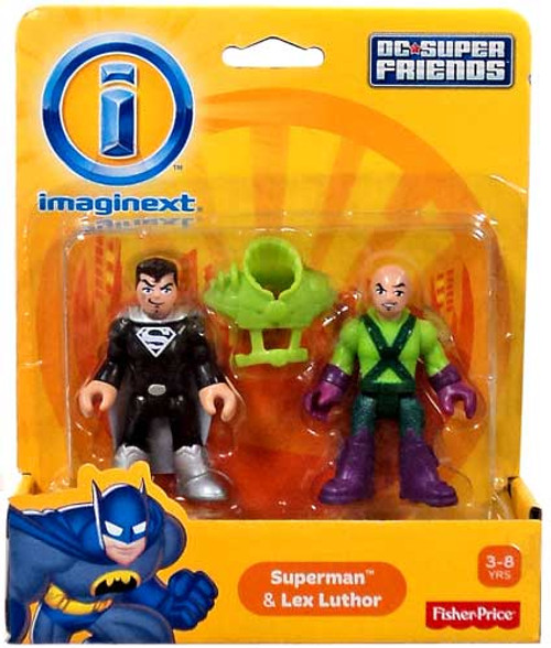 Fisher Price DC Super Friends Imaginext Superman & Lex Luthor 3-Inch Mini Figures