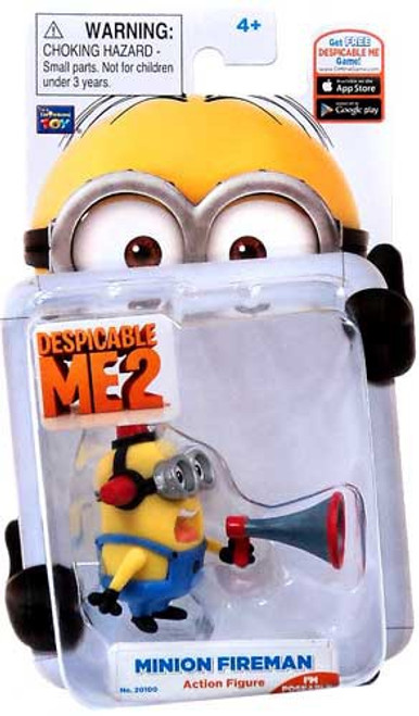 Despicable Me 2 Minion Fireman Action Figure #2 [Bull Horn]