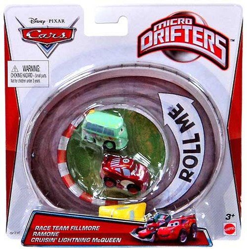 Disney Cars Micro Drifters Team Fillmore, Ramone & Cruisin' Lightning McQueen Mini Cars