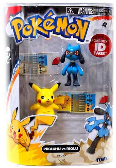 Pokemon Black & White Basic Pikachu vs. Riolu Figure 2-Pack