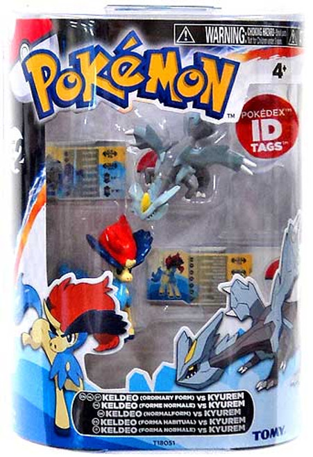 Pokemon Black & White Basic Keldeo vs. Kyurem Figure 2-Pack