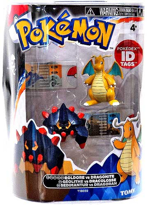Pokemon Black & White Basic Boldore vs. Dragonite Figure 2-Pack