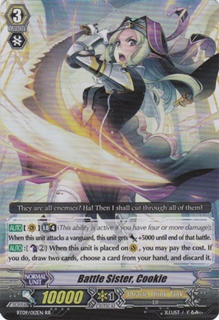 Cardfight Vanguard Clash of the Knights & Dragons RR Rare Battle Sister, Cookie BT09/012