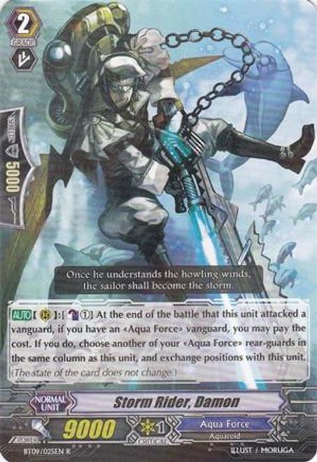 Cardfight Vanguard Clash of the Knights & Dragons Rare Storm Rider, Damon BT09/025