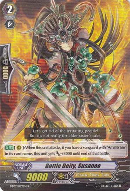 Cardfight Vanguard Clash of the Knights & Dragons Rare Battle Deity, Susanoo BT09/029