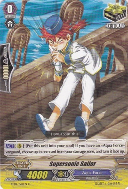 Cardfight Vanguard Clash of the Knights & Dragons Common Supersonic Sailor BT09/062