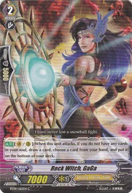 Cardfight Vanguard Clash of the Knights & Dragons Common Rock Witch, GaGa BT09/065