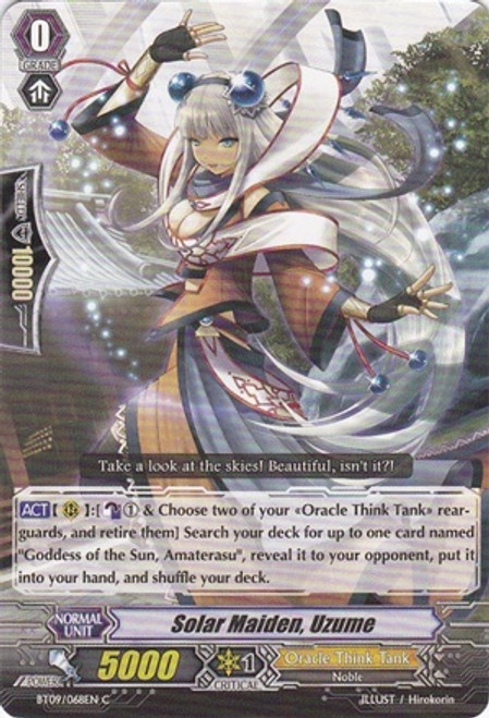 Cardfight Vanguard Clash of the Knights & Dragons Common Solar Maiden, Uzume BT09/068