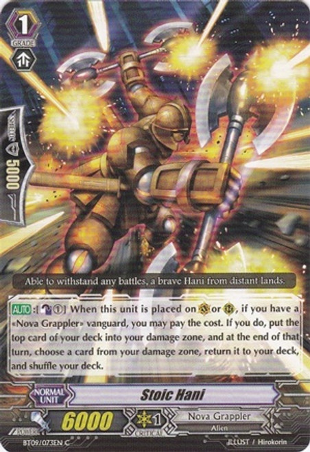 Cardfight Vanguard Clash of the Knights & Dragons Common Stoic Hani BT09/073