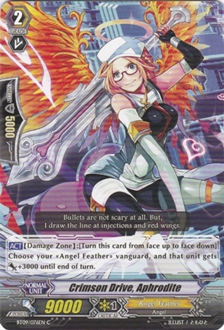 Cardfight Vanguard Clash of the Knights & Dragons Common Crimson Drive, Aphrodite BT09/076