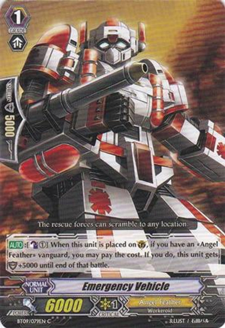Cardfight Vanguard Clash of the Knights & Dragons Common Emergency Vehicle BT09/079