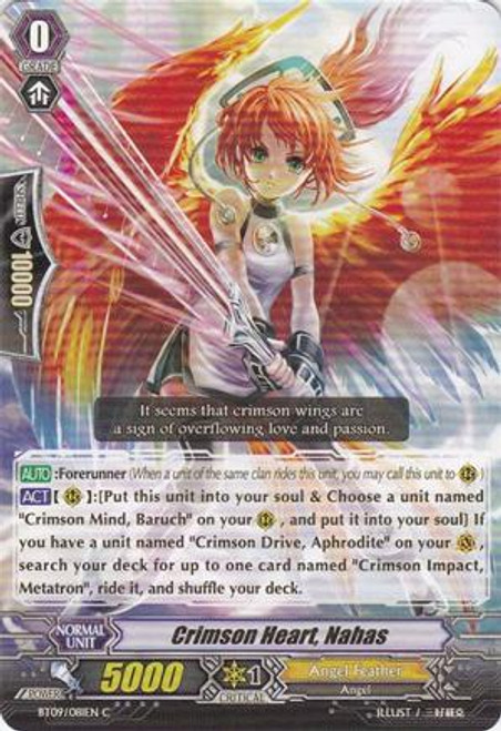Cardfight Vanguard Clash of the Knights & Dragons Common Crimson Heart, Nahas BT09/081