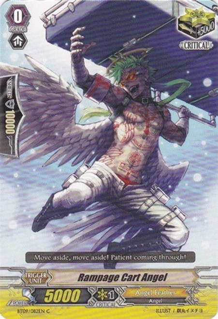 Cardfight Vanguard Clash of the Knights & Dragons Common Rampage Cart Angel BT09/082