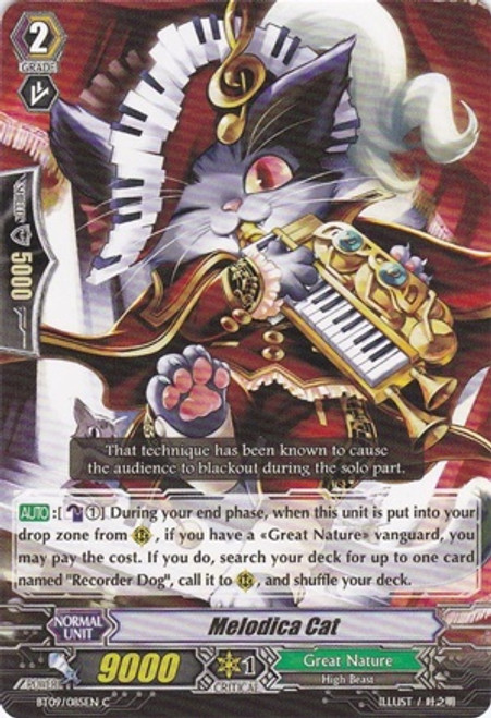 Cardfight Vanguard Clash of the Knights & Dragons Common Melodica Cat BT09/085