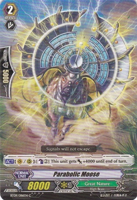 Cardfight Vanguard Clash of the Knights & Dragons Common Parabola Moose BT09/086