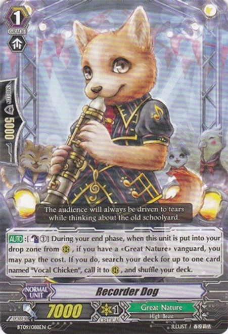 Cardfight Vanguard Clash of the Knights & Dragons Common Recorder Dog BT09/088