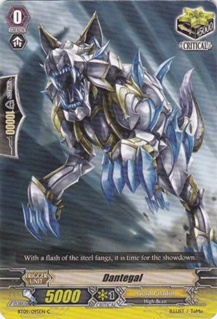 Cardfight Vanguard Clash of the Knights & Dragons Common Dantegal BT09/095