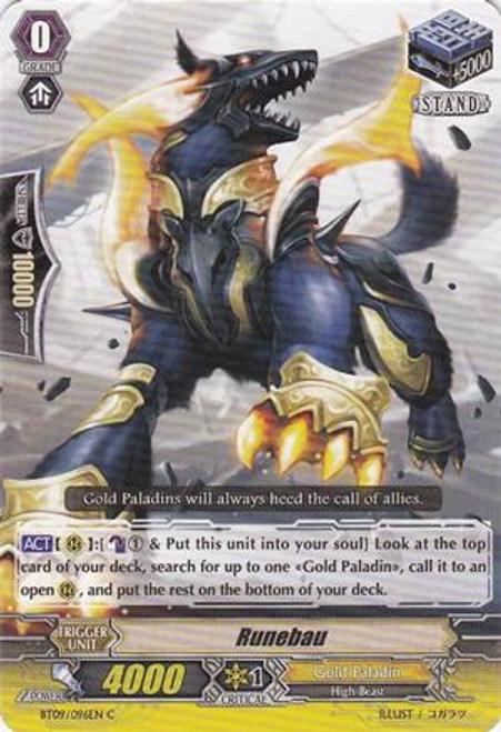 Cardfight Vanguard Clash of the Knights & Dragons Common Runebau BT09/096