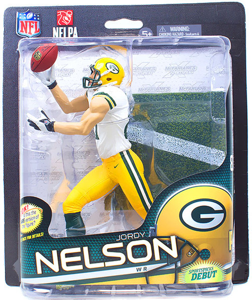 McFarlane Toys NFL Green Bay Packers Sports Picks Series 32 Jordy Nelson Action Figure [White Jersey]