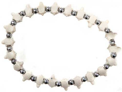 Trrtlz White Turtles Bracelet