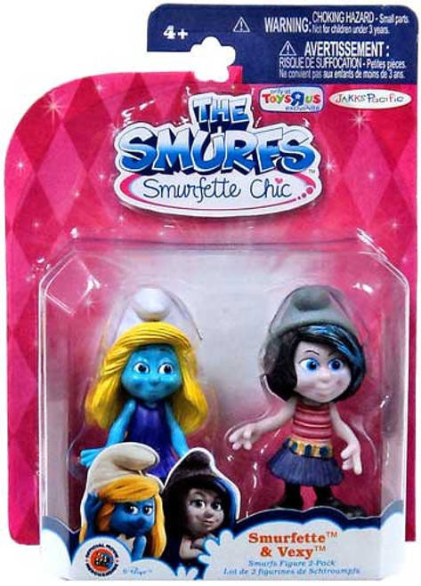 The Smurfs Smurfette & Vexy Exclusive Action Figure 2-Pack