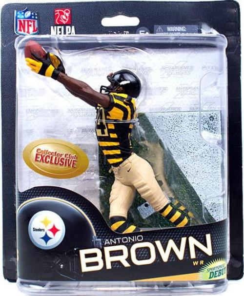 McFarlane Toys NFL Pittsburgh Steelers Sports Picks Series 32 Antonio Brown Exclusive Action Figure [Retro Uniform]
