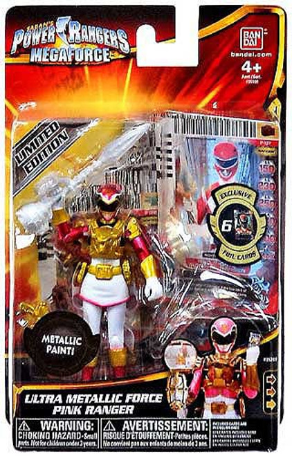 Power Rangers Megaforce Ultra Metallic Force Pink Ranger Action Figure