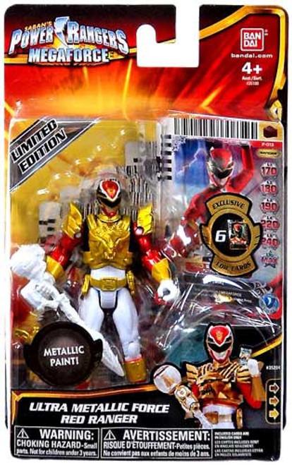 Power Rangers Megaforce Ultra Metallic Force Red Ranger Action Figure
