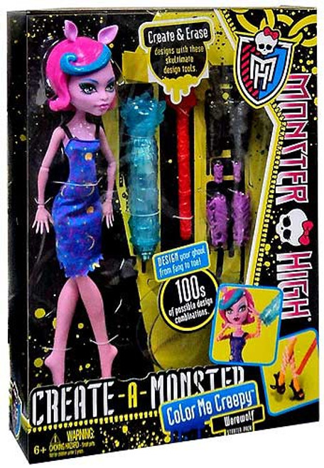 Monster High Create-A-Monster Werewolf Starter Pack
