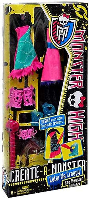 Monster High Create-A-Monster Color Me Creepy Sea Monster Add-On Pack 10.5-Inch