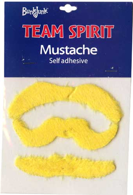 Spirit Mustaches Yellow Team Spirit Mustache