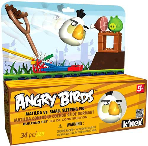 K'NEX Angry Birds Matilda Vs. Small Sleeping Pig Set #72476
