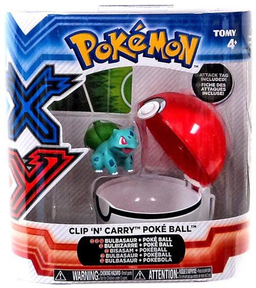 Pokemon Clip n Carry Pokeball Bulbasaur with Poke Ball Figure Set