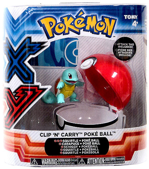 Pokemon Clip n Carry Pokeball Squirtle & Poke Ball Figure Set