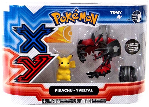 Pokemon XY Basic Pikachu & Yveltal Figure 2-Pack