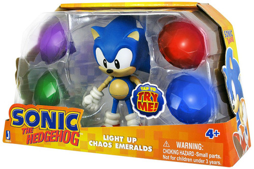 Sonic The Hedgehog Sonic Action Figure [Light Up Chaos Emeralds]