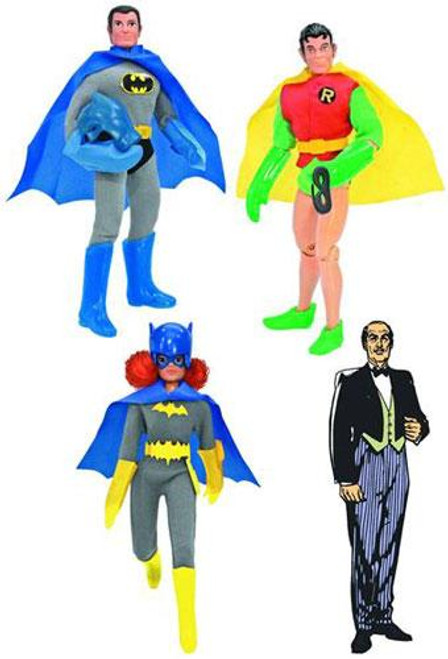 Retro Series 3 Batman, Robin, Batgirl & Alfred Set of 4 Action Figures