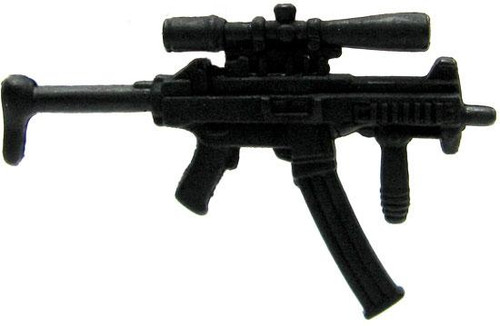 GI Joe Loose Weapons MP5 with Rifle Sight & Extended Magazine Action Figure Accessory [Black Loose]