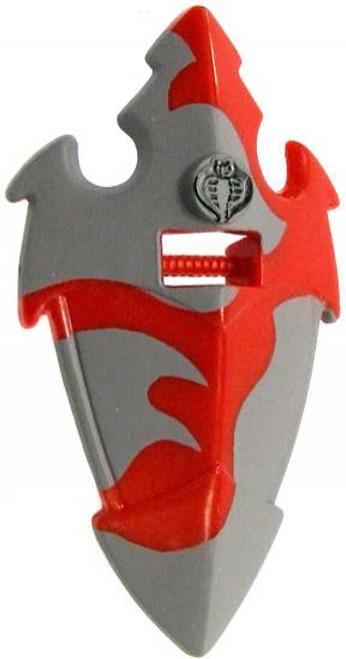 GI Joe Loose Cobra Riot Shield Action Figure Accessory [Red & Gray Loose]