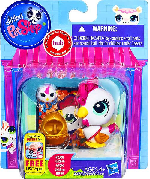 Littlest Pet Shop Chicken & Chicken Friend Figure 2-Pack #3338, 3339