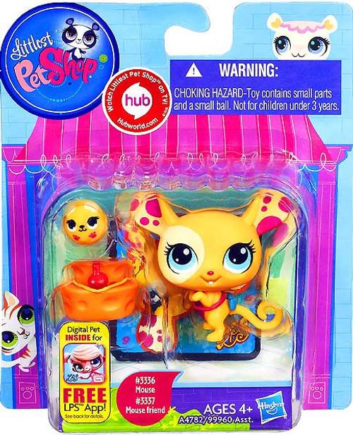 Littlest Pet Shop Mouse & Mouse Friend Figure 2-Pack #3336, 3337