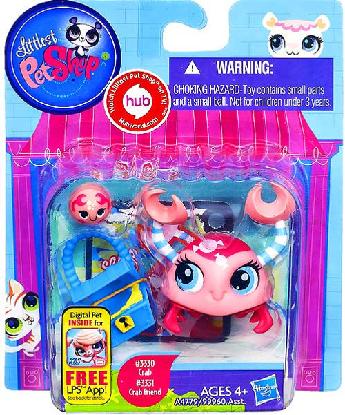 Littlest Pet Shop Crab & Crab Friend Figure 2-Pack #3330, 3331