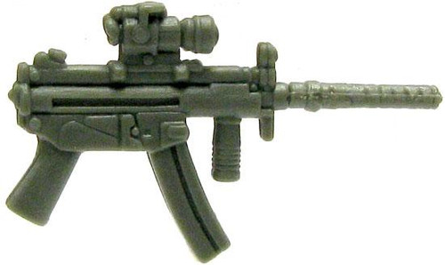 GI Joe Loose Weapons MP5 with Removable Silencer Action Figure Accessory [Olive Green Loose]