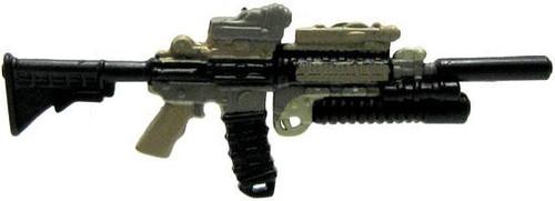GI Joe Loose Weapons Heavily Customized M4 Action Figure Accessory [Dark Tan & Black Loose]