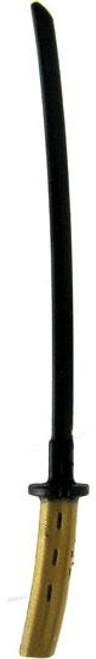 GI Joe Loose Weapons Katana Action Figure Accessory [Black & Gold Loose]