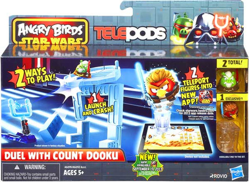 Star Wars Angry Birds Telepods Duel with Count Dooku Playset
