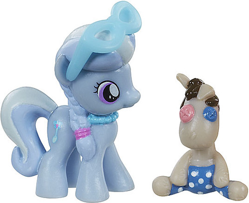 My Little Pony Friendship is Magic 2 Inch Silver Spoon with Smarty Pants PVC Figure Set