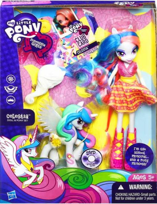 My Little Pony Equestria Girls Rainbow Rocks Celestia 9-Inch Doll & Pony Set