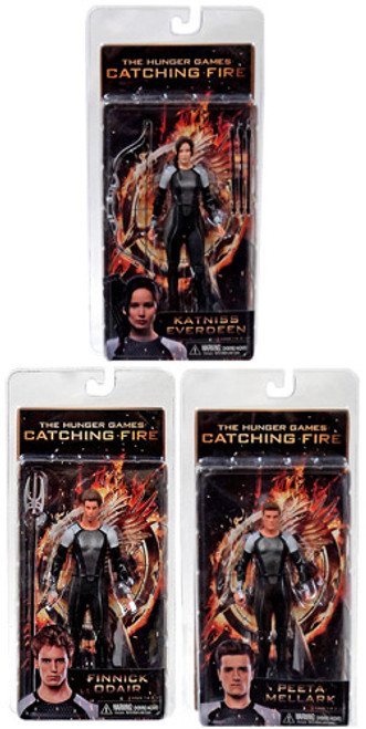 NECA The Hunger Games Catching Fire Series 1 Set of 3 Action FIgures