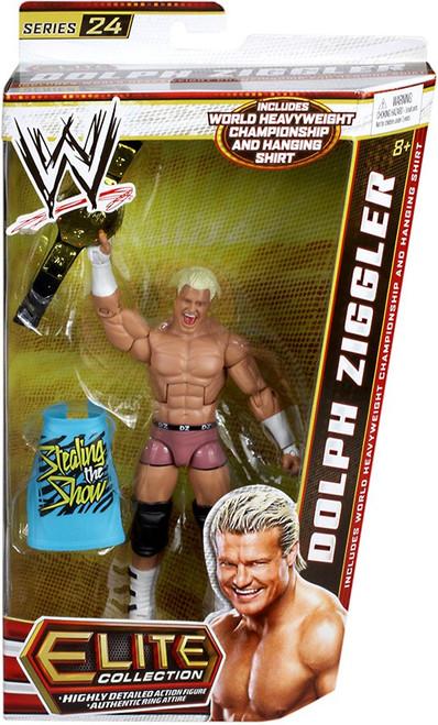 WWE Wrestling Elite Series 24 Dolph Ziggler Action Figure [World Heavyweight Championship & Hanging Shirt]